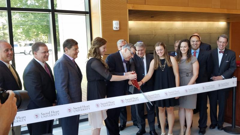 Ribbon Cut on New SHU Residence Hall